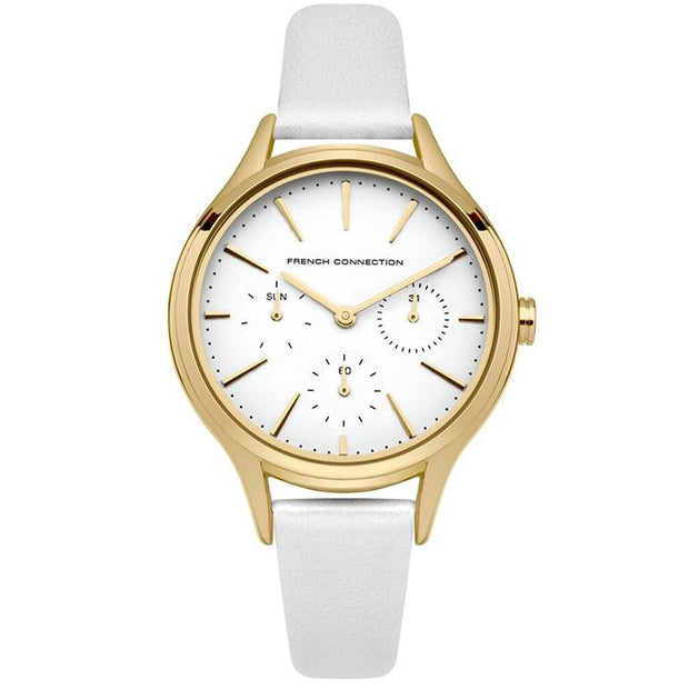 French Connection Mesh  Rose Gold 36mm Women's Watch (FC1273WG)