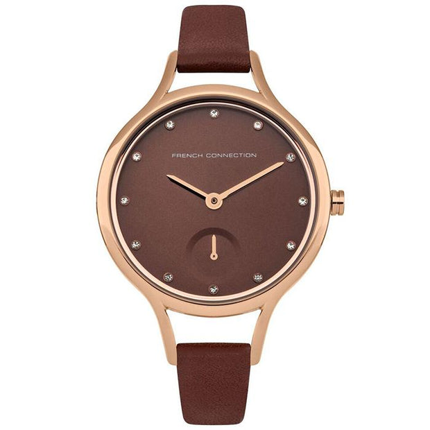 French Connection Leather  Nude 32mm Women's Watch (FC1274TRG)