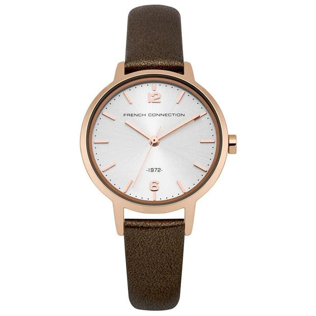 French Connection Metal  Silver 42mm Women's Watch (FC1280TRG)
