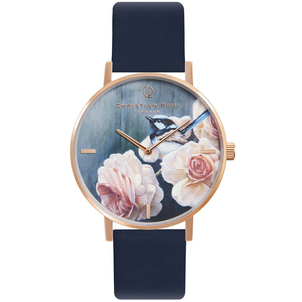 Christian Paul Blue Wren Rose Gold 35 mm Women's Watches GBR3515 - Christian Paul