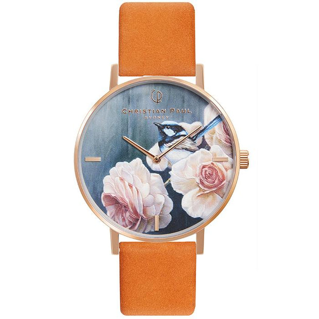 Christian Paul Pink Robin Rose Gold 35 mm Women's Watches GPR3516 - Christian Paul
