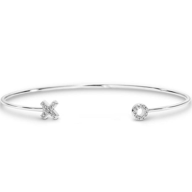Georgini Kiss Hug Silver Bangle Women's IB153W