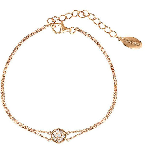 Georgini Mini Mosaic Rose Gold Bracelet Women's IB176RG