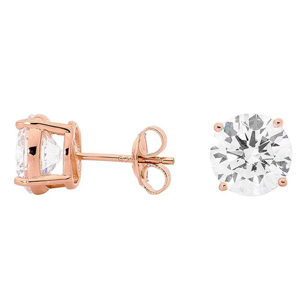 Georgini 9Mm Round Stud Rose Gold Women's IE112RG