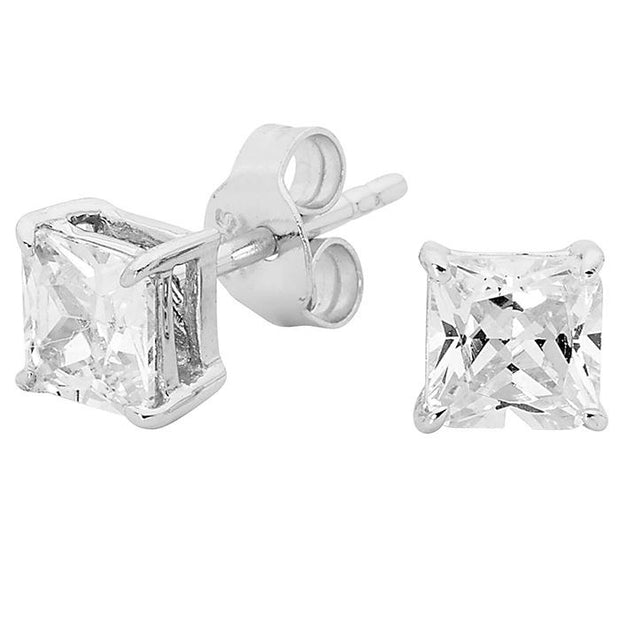 Georgini 5Mm Sq Clear Stud Women's IE123