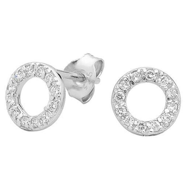 Georgini Baby Circle Cz Stud Earring Women's IE248