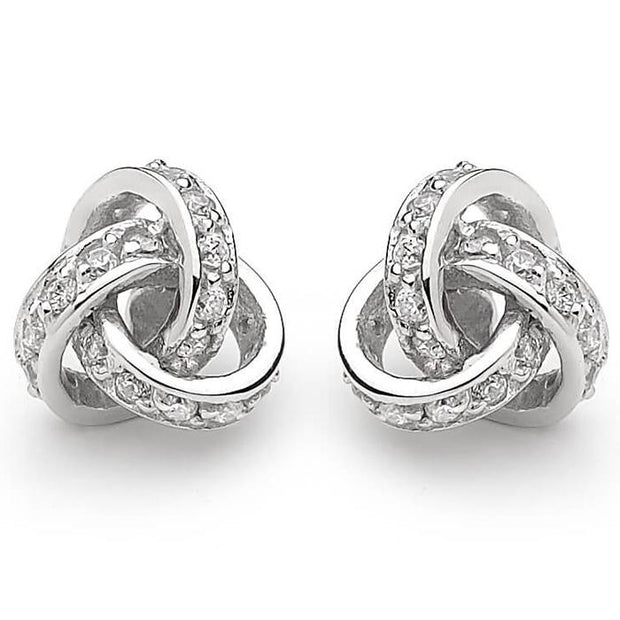 Georgini Love Knot Clear Cz Earrings Women's IE388W