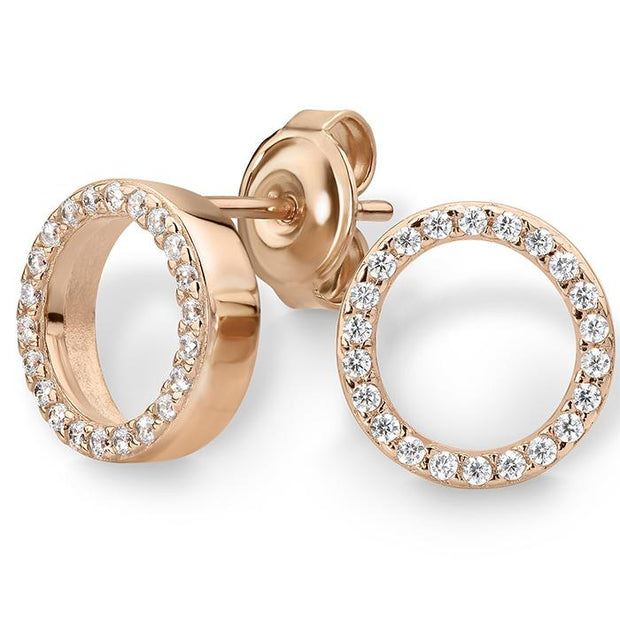 Georgini Roxy Rose Gold Stud Earring Women's IE669RG-COCOMI Australia