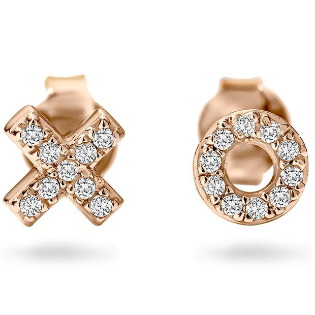 Georgini Kiss Hug Rose Gold Stud Women's IE707RG-COCOMI Australia
