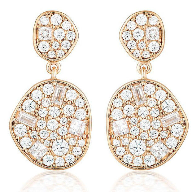 Georgini Anna Mosaic Rose Gold Drop Earring Women's IE811RG