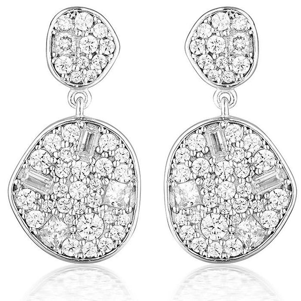 Georgini Anna Mosaic Silver Drop Earring Women's IE811W