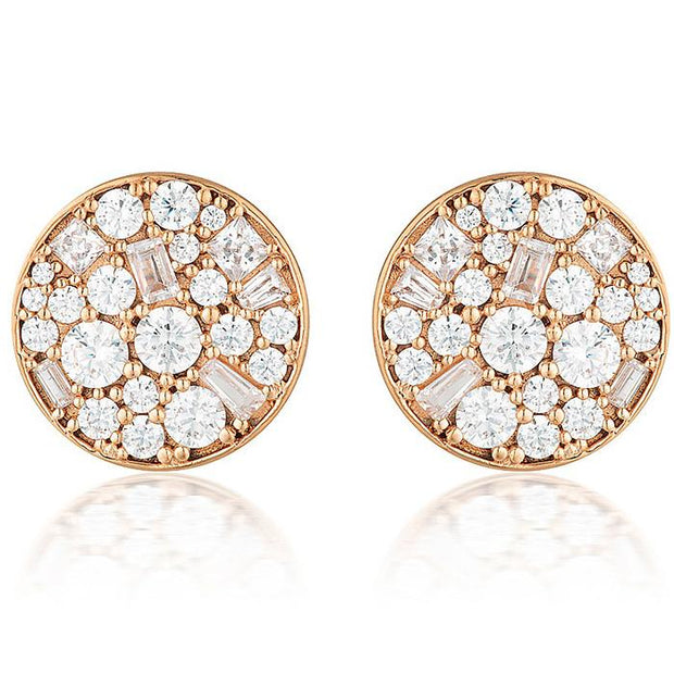 Georgini Mosaic Disc Rose Gold Stud Earring Women's IE812RG