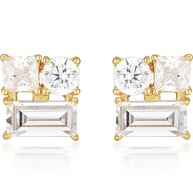 Georgini Thea Gold Stud Earring Women's IE814G