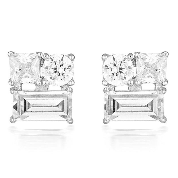 Georgini Thea Silver Stud Earring Women's IE814W