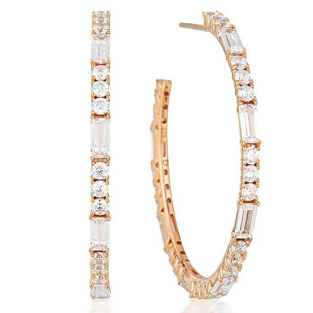 Georgini Irina Large Rose Gold Hoop Women's IE818RG