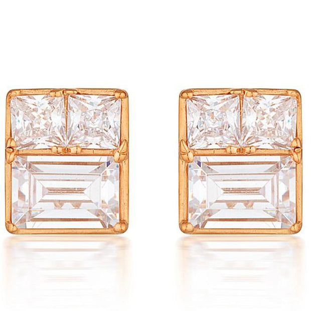 Georgini Elena Mosaic Rose Gold Stud Earring Women's IE820RG