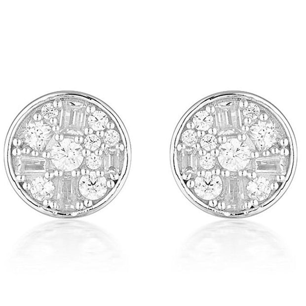 Georgini Mini Mosaic Silver Earrings Women's IE821W