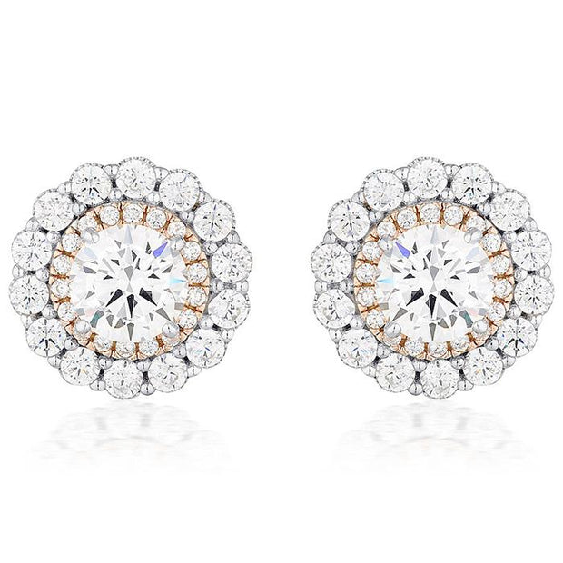 Georgini Miranna Double Halo Stud Earring Women's IE825-COCOMI Australia