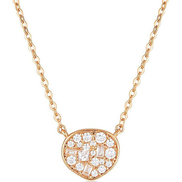 Georgini Fili Small Mosaic Rose Gold Pendant Women's IP736RG