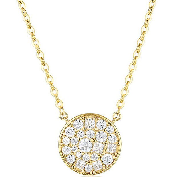 Georgini Mosaic Disc Gold Pendant Women's IP738G