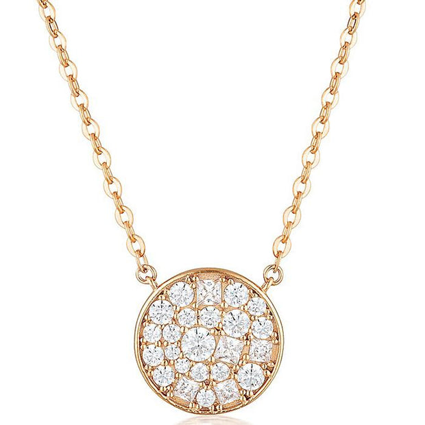 Georgini Mosaic Disc Rose Gold Pendant Women's IP738RG-COCOMI Australia