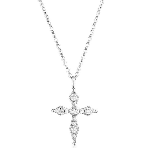 Georgini Bless Mini Silver Cross Women's IP741W