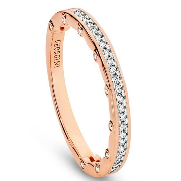 Georgini Vienna Rose Gold 3Mm Ring Size 10 Women's IR392RG-10