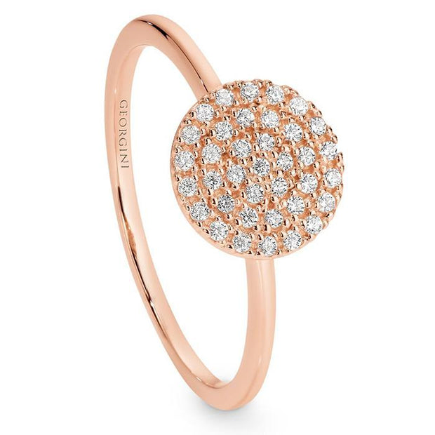 Georgini Pavo Rose Gold Ring Size 10 Women's IR403RG-10