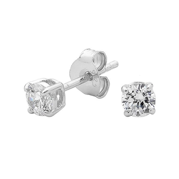 Georgini 4Mm Brilliant Stud Earring Women's LE009-4mm