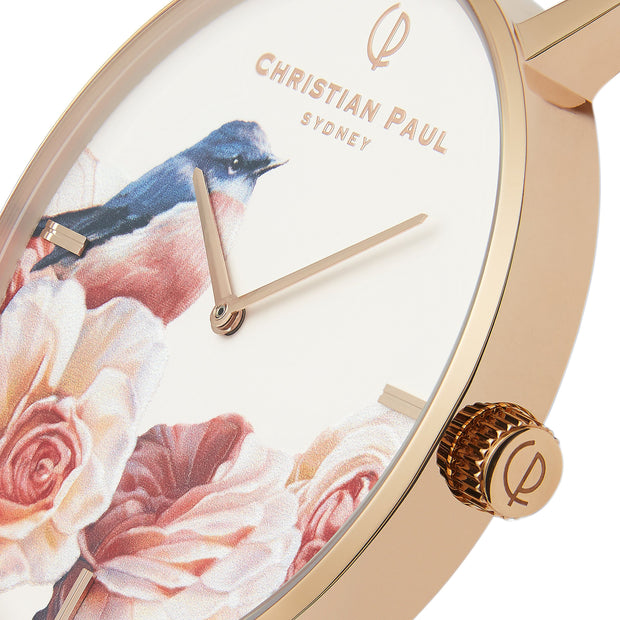 Christian Paul Pink Robin Rose Gold 43 mm Women's Watches GPR4319 - Christian Paul