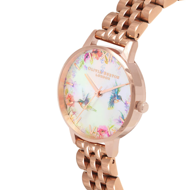 Olivia Burton Painterly Prints Rose Gold 30 mm Women's Watches OB16PP49-Olivia Burton-COCOMI Australia