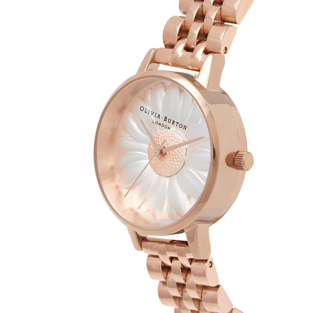 Olivia Burton 3D Daisy Rose Gold 30 mm Women's Watches OB16FS102-Olivia Burton-COCOMI Australia
