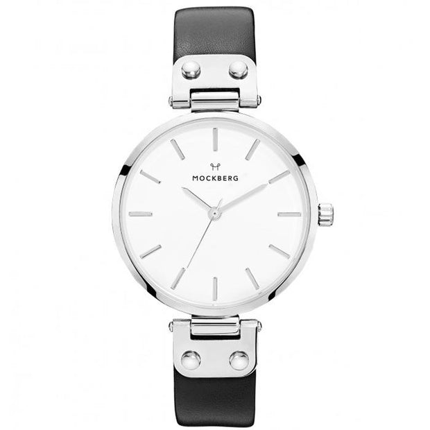 Mockberg White Leather 34mm Women's Watch (MO1002)
