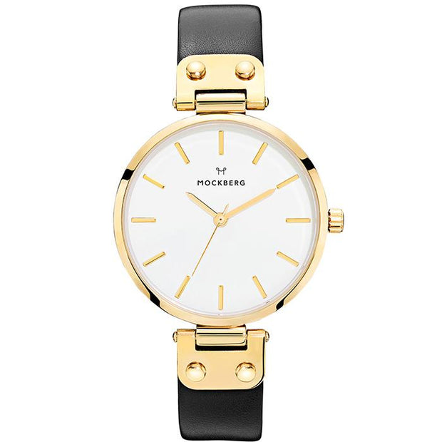 Mockberg White Leather 34mm Women's Watch (MO1007)-COCOMI Australia