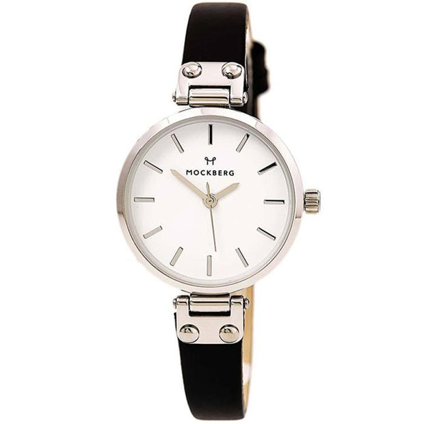 Mockberg White Leather 25mm Women's Watch (MO1402)