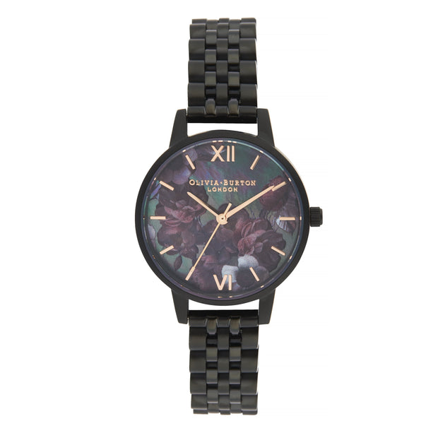 Olivia Burton After Dark Black And Rose Gold 30 mm Women's Watches OB16AD41-Olivia Burton-COCOMI Australia