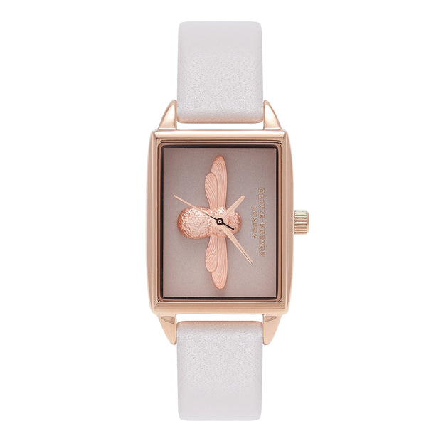 Olivia Burton Square Dial Rose Gold 20.5 mm Women's Watches OB16AM103-Olivia Burton-COCOMI Australia