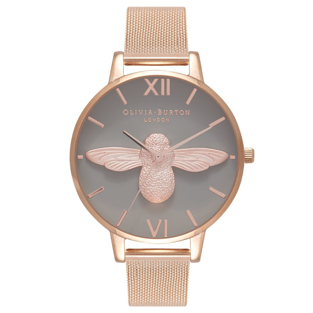 Olivia Burton 3D Bee Rose Gold 38 mm Women's Watches OB16AM117
