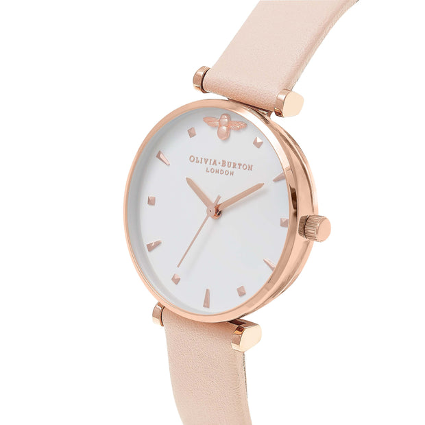 Olivia Burton Queen Bee Rose Gold 30 mm Women's Watches OB16AM95-Olivia Burton-COCOMI Australia