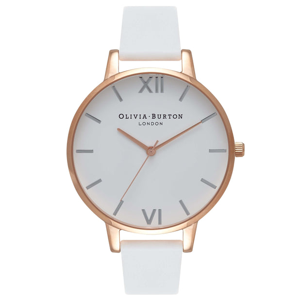 Olivia Burton White Dial Rose Gold 38 mm Women's Watches OB16BDW11-Olivia Burton-COCOMI Australia