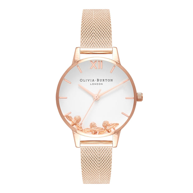 Olivia Burton Busy Bees Rose Gold 30 mm Women's Watches OB16CH01-Olivia Burton-COCOMI Australia