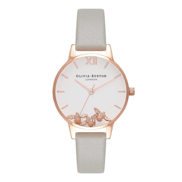 Olivia Burton Busy Bees Rose Gold 30 mm Women's Watches OB16CH03-Olivia Burton-COCOMI Australia