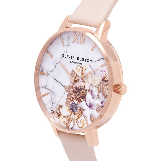Olivia Burton Marble Florals Rose Gold 38 mm Women's Watches OB16CS12-Olivia Burton-COCOMI Australia
