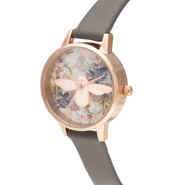 Olivia Burton Marble Florals London Grey 30 mm Women's Watches OB16CS19-Olivia Burton-COCOMI Australia
