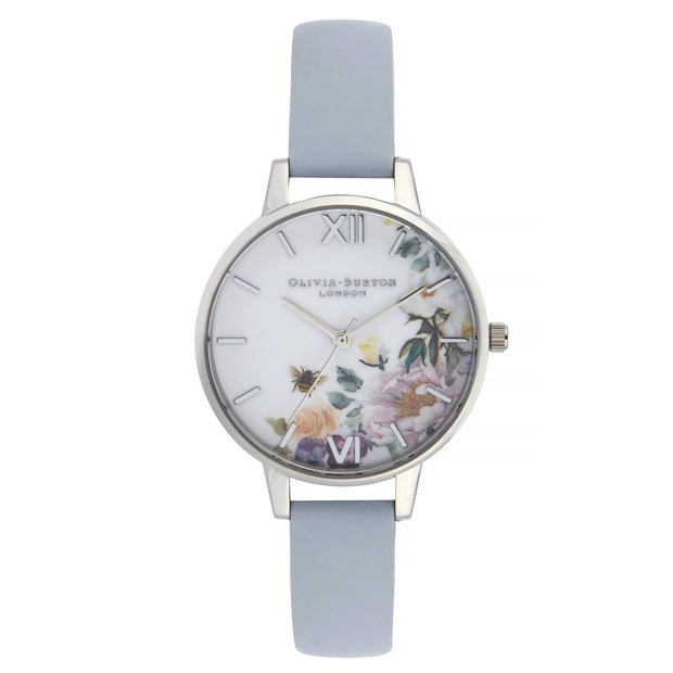 Olivia Burton Enchanted Garden Silver 34 mm Women's Watches OB16EG114-Olivia Burton-COCOMI Australia