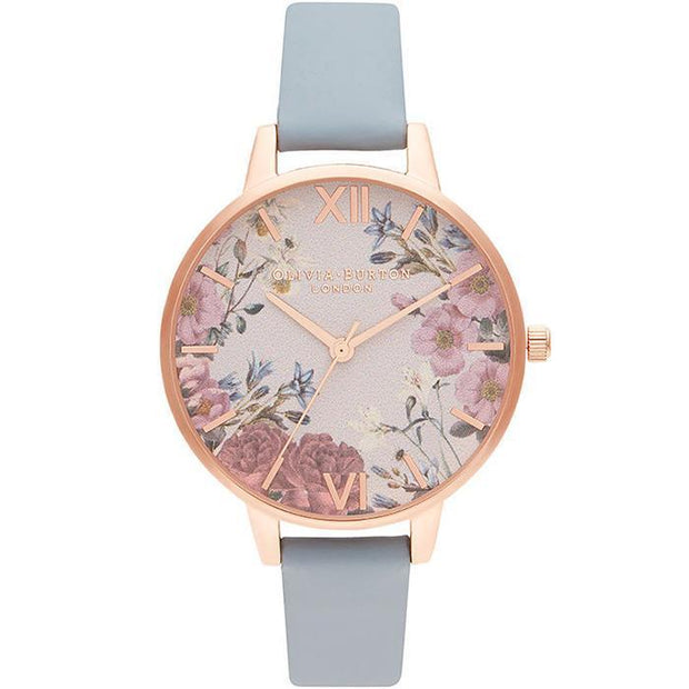 Olivia Burton British Blooms Chalk Blue Women's Watch (OB16EG132)-COCOMI Australia