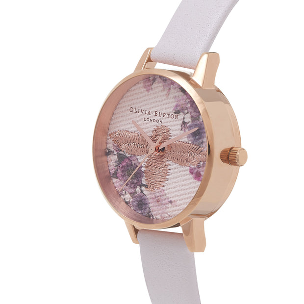 Olivia Burton Embroidered Dial Rose Gold 30 mm Women's Watches OB16EM06-Olivia Burton-COCOMI Australia