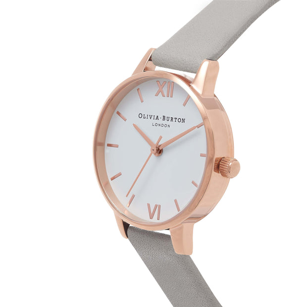 Olivia Burton White Dial Rose Gold 30 mm Women's Watches OB16MDW05-Olivia Burton-COCOMI Australia