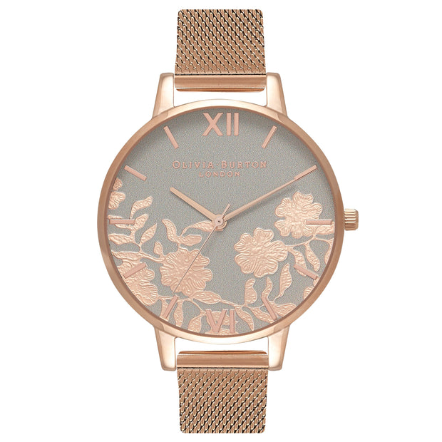 Olivia Burton Lace Detail Rose Gold 38 mm Women's Watches OB16MV65-Olivia Burton-COCOMI Australia