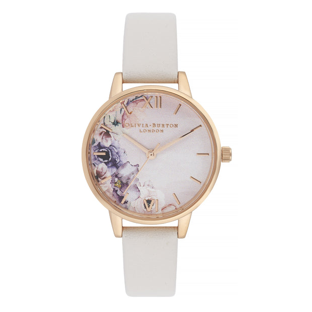 Olivia Burton Watercolour Florals Rose Gold 30 mm Women's Watches OB16PP54-Olivia Burton-COCOMI Australia